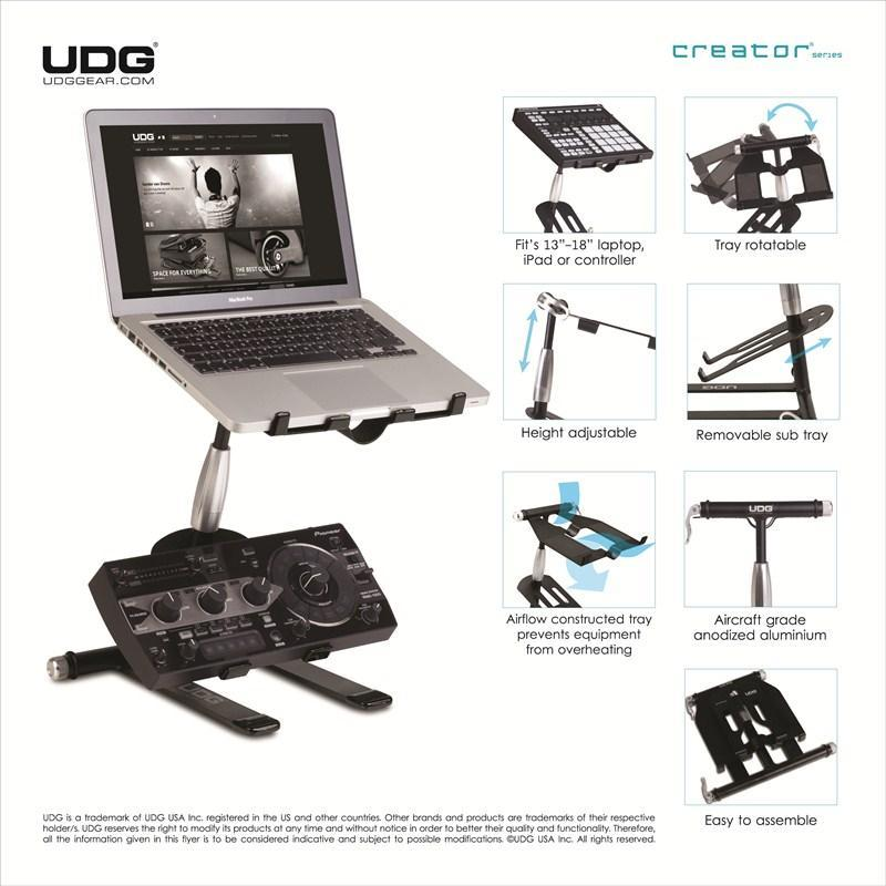 Udg u6010bl creator laptop stand now shipping streetwise for Stand createur