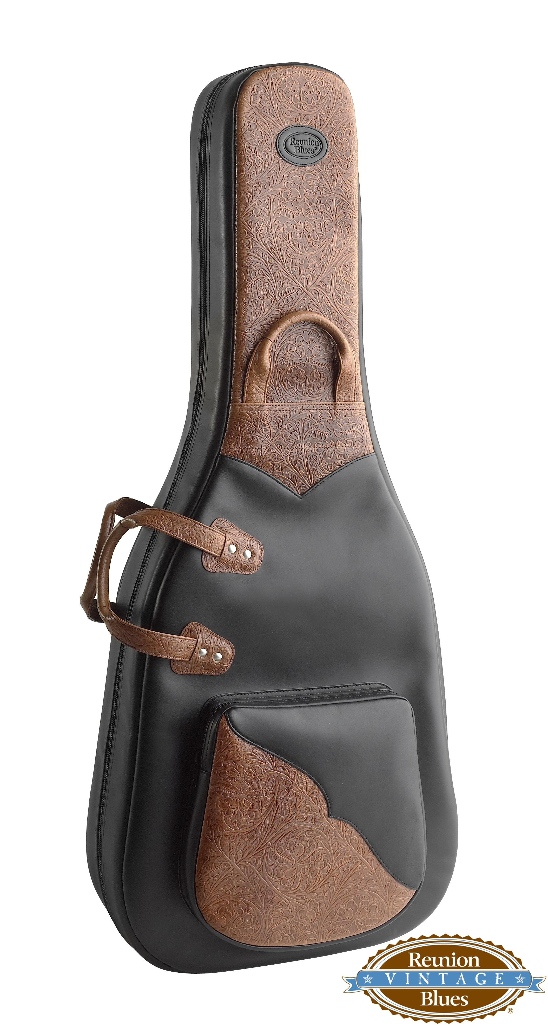 Dreadnought Acoustic Guitar Bag Black Rawhide Leather